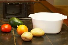 Free Vegetables On Kitchen Counter Royalty Free Stock Images - 2639629