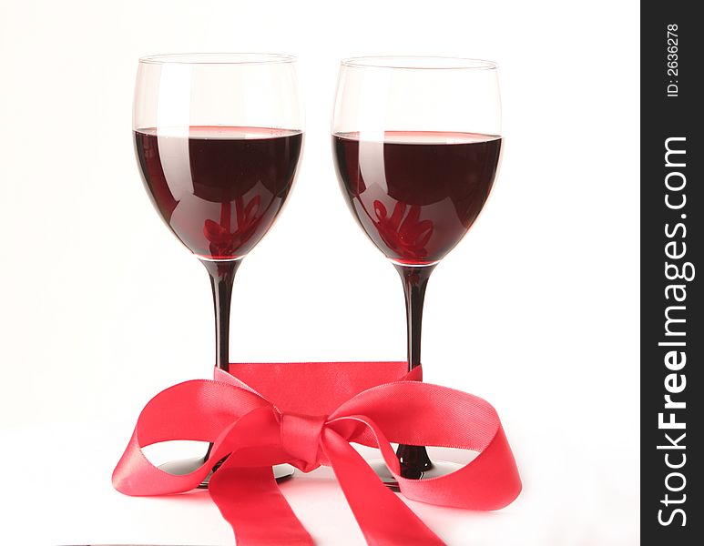 Two goblets with wine