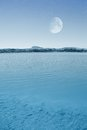 Free Full Moon Over The Lake Stock Photo - 26300720