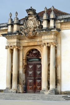 Free View Of The Patio Of The Coimbra University Royalty Free Stock Photos - 26301138