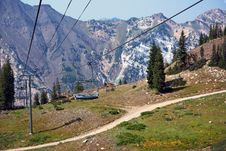 Ski Lift In Summer Royalty Free Stock Images