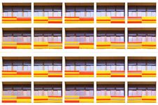 Free Striped Balconies Background Royalty Free Stock Images - 26305229