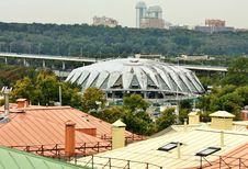 Free Dome Of The Sports Complex, View From Above Royalty Free Stock Images - 26305759
