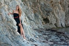 Free Beautiful Young Woman Near The Sea Royalty Free Stock Photos - 26306848