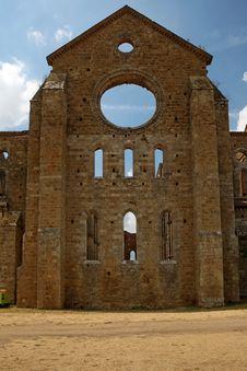 Free Abbey Of St. Galgano, Tuscany Royalty Free Stock Images - 26307219