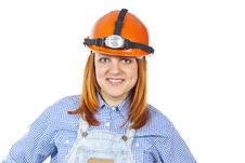 Free Portrait Of Working Staff In The Helmet Royalty Free Stock Images - 26309689