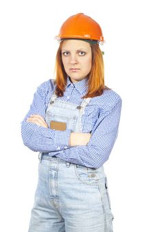 Free Girl Builder In Helmet Stock Photography - 26309832