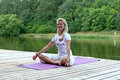 Free Woman Meditates Outdoors Royalty Free Stock Photos - 26316548