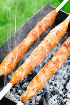 Free Grilled Juicy Meat Kebab Royalty Free Stock Photo - 26311965
