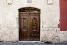 Free Old Wooden Door Royalty Free Stock Photo - 26314525