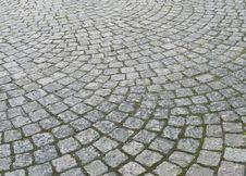 Granite Paved Street Stock Photo