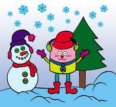 Free Snow Cat Stock Photography - 26318432