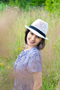 Free Beautiful Young Girl In Straw Hat Stock Photography - 26323262
