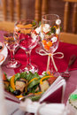 Free Glasses For Drinks On The Holiday Table Royalty Free Stock Image - 26323346