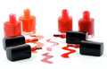 Free Bright Nail Varnishs And Spilled With Brushes Stock Photo - 26325070