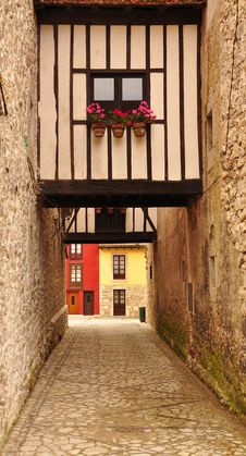 Free Llanes, Asturias, Spain. Small Alley. Stock Photo - 26321700