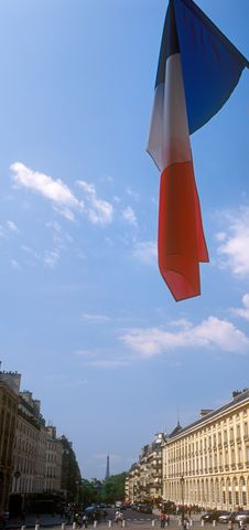 Free French Flag Over A Paris. Royalty Free Stock Image - 26321986