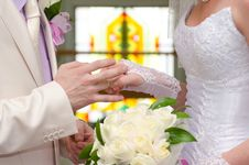 Free The Solemn Moment Of A Betrothal Royalty Free Stock Photo - 26323585
