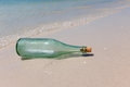 Free Message In A Bottle On Shore Royalty Free Stock Image - 26335536