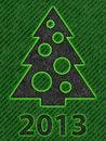 Free Simple Christmas Tree As Xmas Card Stock Photos - 26335583