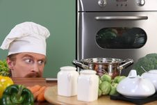 Free Funny Young Chef Royalty Free Stock Photo - 26333635