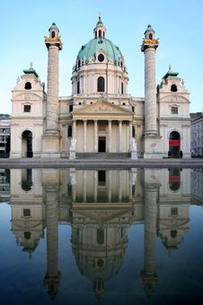 Baroque Karlskirche Church In Vienna, Austria Royalty Free Stock Photography