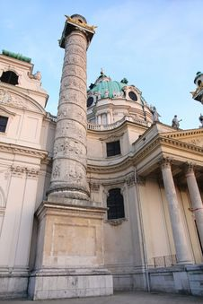 Karlskirche Church In Vienna, Austria Stock Image