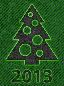 Simple Christmas Tree As Xmas Card Stock Photos