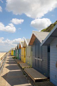 Free Beach Huts, Sheringham Stock Photography - 26338082