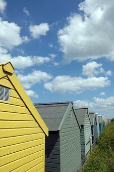Free Beach Huts, Sheringham Royalty Free Stock Photos - 26338098