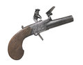Free Vintage Flintlock Pocket Pistol Isolated Stock Images - 26349294