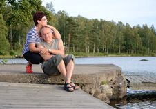 Free Seniors Couple Outdor Portrait Stock Photo - 26341100