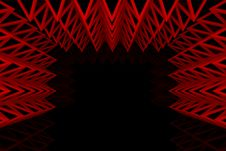 Free Abstract Red Triangle Truss Wall Royalty Free Stock Photo - 26344115