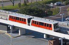 Free Red Monorail Royalty Free Stock Photos - 26344438