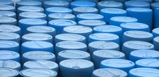 Free Group Of Blue Containers Stock Image - 26344591