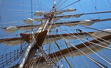 Free Old Sail Ship Tail Stock Photos - 26344843