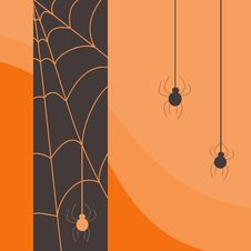 Free Halloween Spider Card Royalty Free Stock Photography - 26345067