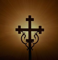 Free Glowing Cross Stock Images - 26346264