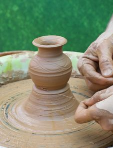 Free Hands Of A Potter Royalty Free Stock Photo - 26346445