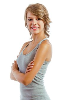 Free Beautiful Blonde Girl With Smile Royalty Free Stock Photography - 26346477
