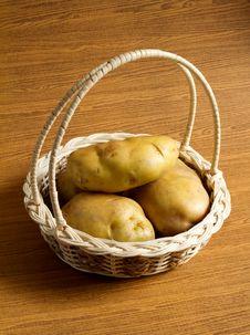 Potato In The Basket Royalty Free Stock Photos
