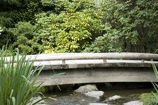 Free Wooden Bridge In Japanese Garden Stock Photo - 26349180