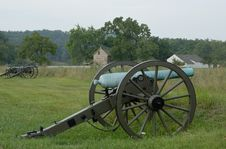 Free Gettysburg Cannon At Battlefield Stock Photography - 26349832