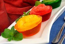 Free Dessert Of Orange, Grapefruit, Kiwi Royalty Free Stock Photo - 26353345