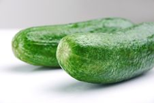 Free Green Cucumber Royalty Free Stock Photo - 26353635