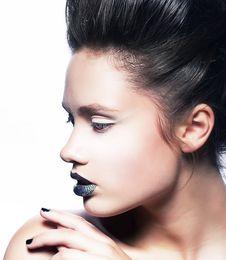 Free Bright Make Up - Fashion Beauty Woman Face Stock Photo - 26357570