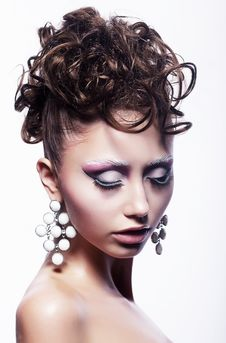 Free Hair Salon Concept - Festive Hairdo. Stylish Hairs Royalty Free Stock Photo - 26357595