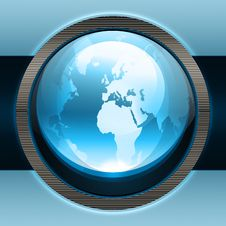 Free Blue Earth Icon Stock Image - 26361371