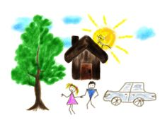 Children S Drawing Stock Photography