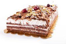 Chocolate Tart With Cherries Stock Photography